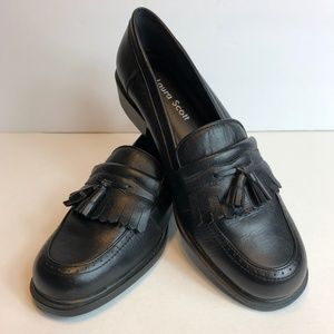 Laura Scott Leather Slip On Marshall Loafers Shoes